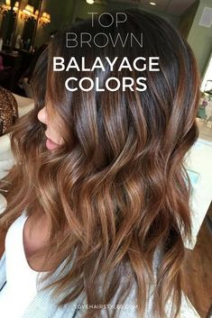 We have collected 35 of our favorite balayage hair styles. Choose the one that works best for your skin tone, style and personality! #haircolor #brownbalayage