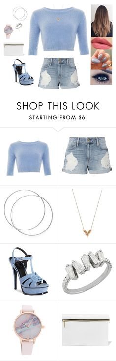 """""""Untitled #4841"""" by sigalv ❤ liked on Polyvore featuring Collectif, Frame, Louis Vuitton, Yves Saint Laurent and Victoria Beckham"""
