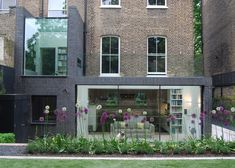 This north London house extension by Lipton Plant Architects features a walk-on glass roof that can be accessed by climbing through a window Brick Extension, Glass Extension, Extension Google, Extension Ideas, Architecture Details, Interior Architecture, Exterior Design, Interior And Exterior, Buy Solar Panels