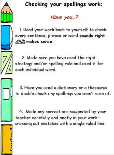 Checking written work - Encourage pupils to check and evaluate their work with these handy charts.