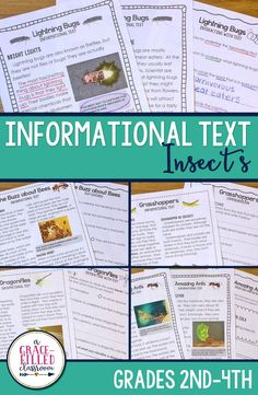 Engage your students in nonfiction informational text passages that are high interest! Learn all about bees, grasshoppers, lightning bugs, dragonflies, and ants! Each insect has 4 comprehension pages that can be used with collaborative groups or partners, guided instruction, whole class, or at centers.|Insects|Spring| Informational Text|Close Reading|