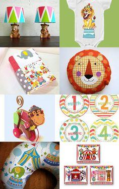 Circus themed nursery, 2013 nursery trends #circus #nursery --Pinned with TreasuryPin.com