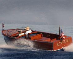 Chris Craft wooden boat via WoodyBoater.com
