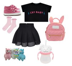 """DDLG Cry Baby"" by eli-morrow ❤ liked on Polyvore featuring Superga, Topshop and cutekawaii"