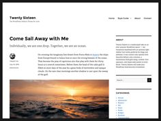 WordPress e il nuovo template Twenty Sixteen Best Free Wordpress Themes, Premium Wordpress Themes, How To Start A Blog, How To Make Money, Web Design, Les Themes, Themes Free, Photography Sites, Grid Layouts