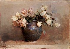Abbott Handerson Thayer 'Roses' 1890 by Plum leaves, via Flickr