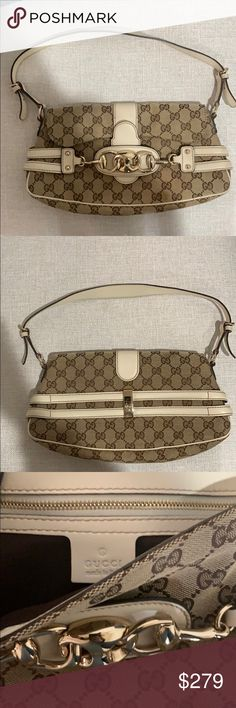 5c328608655 Shop Women s Gucci Cream size OS Totes at a discounted price at Poshmark.  Description  Hardly used Gucci purse.