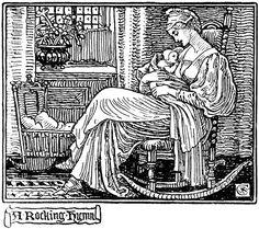 """A Rocking Hymn"" (Christmas Carol) by Walter Crane by Plum leaves, via Flickr"