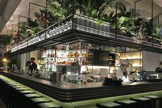 The Botanical Club Bistro Restaurant, Restaurant Design, Resto Vegan, Bar Interior, Interior Design, Bar Counter Design, Lobby Bar, Home Bar Designs, Lounge