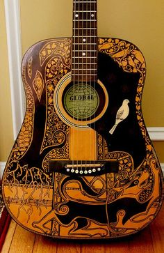 Sharpie Guitar. Glad to know I'm not the only one with this idea. Now I just have to by a guitar that I can do this too because I don't think my dad would appreciate a sharpies guitar.