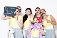 Photo booth props & chalk. We can create a little book of all the guests.