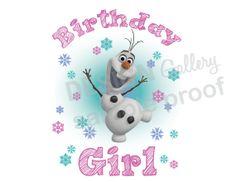 Disney's Frozen Birthday Girl image DIY Printable by designgallery, $2.50