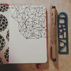 Progress shot, triangles drawn in microns in my little red moleskine. By Lauren Salgado Doodle Inspiration, Art Journal Inspiration, Art Inspo, Doodle Drawings, Doodle Art, Moleskine, Arte Sketchbook, Sketchbook Ideas, Fashion Sketchbook