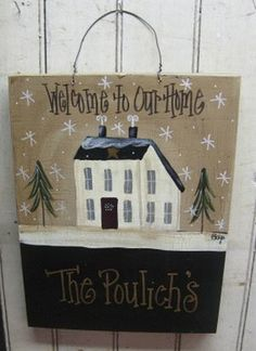 Personalized Winter House Sign | Personalized Signs | Winter Country Crafts | Gainers Creek Crafts