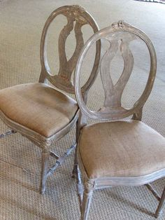 Want dining chairs upholstered like this.