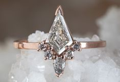 Opal engagement ring women rose gold Halo diamond vintage oval cut Solitaire set flower antique wedding Jewelry Anniversary gift for her All our diamonds are natural and not clarity enhanced or treated in anyway. We only use conflict-free diamonds a Chevron Ring, Pretty Engagement Rings, Vintage Engagement Rings, Pink Wedding Rings, Diamond Wedding Bands, Moissanite Bridal Sets, Black Diamond Earrings, Diamond Promise Rings, Birthstone Jewelry