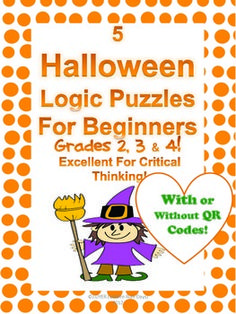 Halloween Beginner Logic Puzzles - Includes Solutions With QR Codes!