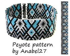 Patterns made with size 11/0 Miyuki Delica seed beads Width: 0.95 (18 columns) Length: 6.91 Technique: Even Count Peyote Colors: 4   Pattern