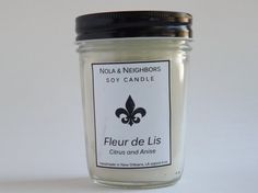 Citrus Anise scented candle 6 oz soy candle by NolaAndNeighbors