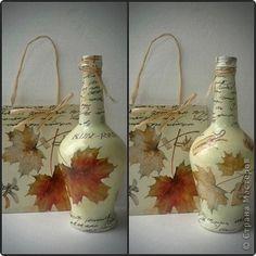 Декор предметов Декупаж Надекупажила Бутылки стеклянные фото 1