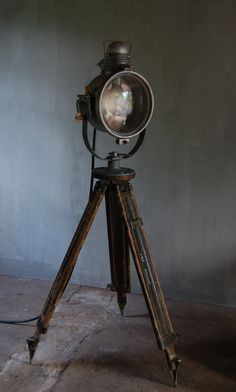 Vintage Industrial Searchlight by urbANDustrial on Etsy, $1995.00...David's office