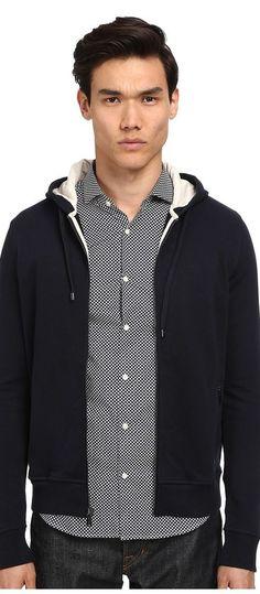 Michael Kors Ecru Trim Hoodie (Midnight) Men's Sweatshirt - Michael Kors, Ecru Trim Hoodie, CS55FJ90VX-401, Apparel Top Sweatshirt, Sweatshirt, Top, Apparel, Clothes Clothing, Gift, - Fashion Ideas To Inspire