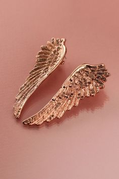 Wildfox Rose Gold Wing Earrings  #wildfox #wildfoxcoutureuk #wings #rosegold #earrings