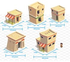 Indiana Jones Adventure World - Egypt village homes Bg Design, Prop Design, Game Design, Game Environment, Environment Concept Art, Environment Design, Low Poly, Isometric Drawing, Isometric Design