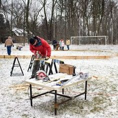 Make your own backyard ice rink