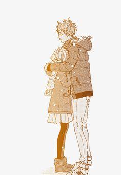 Naho and Suwa. They are so sweet. -- ORANGE