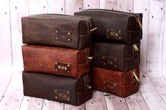 HANDMADE Men's Leather Toiletry Case Dopp Kit by naturalsheepskin