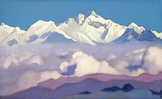 Catalogue paintings collection Nicholas Roerich Museum Kanchenjunga