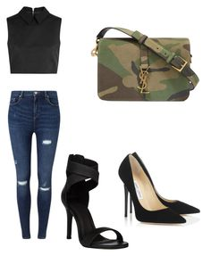 """""""Untitled #27"""" by taemichellestyles on Polyvore featuring Yves Saint Laurent, McQ by Alexander McQueen, Jimmy Choo and Miss Selfridge"""