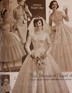 Image result for 60s wedding gowns