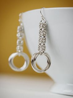 Byzantine hoop earrings classy love knot