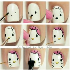 cat nail art designs kitty \ cat nail art - cat nail art easy - cat nail art designs - cat nail art cute - cat nail art halloween - cat nail art step by step - cat nail art designs kitty Cat Nail Art, Animal Nail Art, Cat Nails, Nail Art Diy, Halloween Nail Designs, Halloween Nail Art, Cute Nail Designs, Animal Nail Designs, Halloween Cat