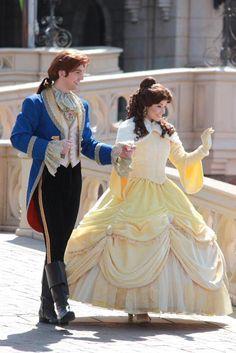 Belle and Prince Adam in Disneyland