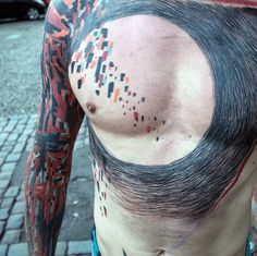 Masculine Abstract Tattoos For Men Circle Lines