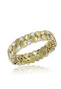 14K Yellow Gold Diamond Band, 1.37 TCW - Rings - Women