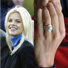 Tiger Woods and Elin Nordegren got engaged on a South African safari at Shamwari game park. Woods proposed with an antique style diamond ring with a round center stone.Photo: Flynet Pictures