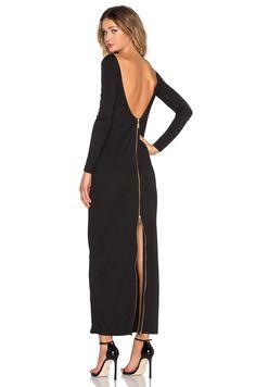 OLCAY GULSEN Dempt Maxi Dress in Black | REVOLVE
