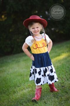 "Tremendous Toy Story-inspired ""Jessie"" Play Dress - Girls - Costume - Halloween - Birthday - Party - Theme - Cowgirl - Dress up - Country by sewadorablechildrens on Etsy https://www.etsy.com/listing/163539047/tremendous-toy-story-inspired-jessie"