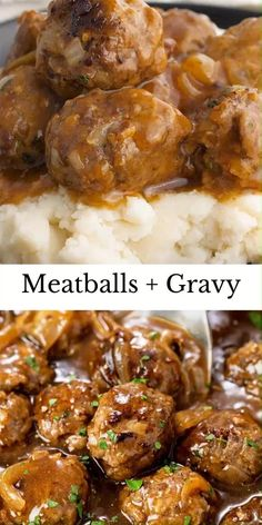 Cheesy Recipes, Meat Recipes, Mexican Food Recipes, Cooking Recipes, Beef Dishes, Food Dishes, Meatballs And Gravy, Party Meatballs, Meatballs And Rice
