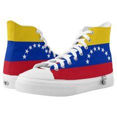 Shop Venezuelan Flag High-Top Sneakers created by GrooveMaster. Venezuela Flag, Pride Shoes, Women Lawyer, Custom Sneakers, Top Shoes, High Tops, High Top Sneakers, Kids Outfits, Reusable Tote Bags