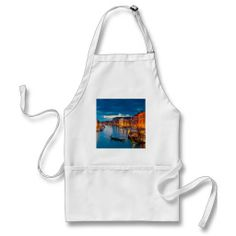 Boats On Canal Water Colorful Venice Italy Apron This DealsOnline Secure Check out Quick and Easy...