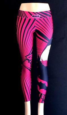 "Check out these awesome pink Batman leggings and they come in three different color variations!   Made from high quality Supplex material that will stretch to fit just about any shape and fit small to large. Beautiful bold printing and non-see through!  unisex leggings are ""one size fits most""  (small to large)"