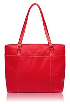 New Trending Briefcases amp; Laptop Bags: Overbrooke Classic Laptop Tote Bag, Red - Vegan Leather Womens Shoulder Bag for Laptops up to 15.6 Inches. Overbrooke Classic Laptop Tote Bag, Red – Vegan Leather Womens Shoulder Bag for Laptops up to 15.6 Inches   Special Offer: $39.95      255 Reviews Overbrooke Tote Bags offer high style along with affordable durability for everyday use.LARGE EVERYDAY CARRYALL: Useful interior and...