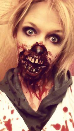 Halloween gory zombie makeup