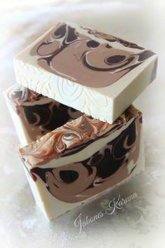 Jabón de Chocolate con crema de coco.