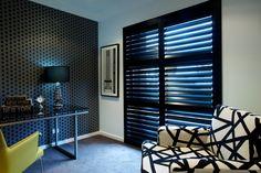 Black Shutters make a bold architectural statement.